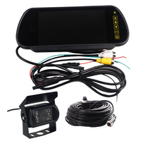 7 Inch TFT LCD Monitor And HD CCD 120 Degree IR Nightvision Waterproof Car parking Rear View Camera Cmos Bus Truck Camera