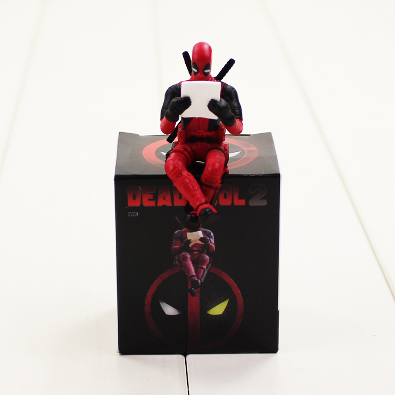 6cm Deadpool 2 Figure Toy Reading Dead Pool Model Doll Justice Has A New Face Wade Winston Wilson Toy cute 6cm deadpool reading figure model toy wade winston wilson deadpool pvc figure collection gift