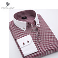 Men's Shirts Long-Sleeve Plaid Shirts Brand Dress Shirt Plus Size Stitching Casual Dress Shirt 5XL Camasia Masculina Roupa