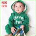 Осень и зима 0-1.5age сигнала флис ребенка комбинезон ребенка ползунки sweatshirtnewborn одежда + БЕСПЛАТНАЯ ДОСТАВКА