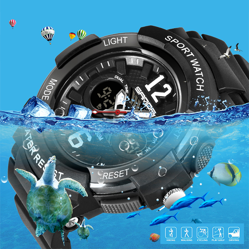 SANDA Women Sports Watches Fashion Waterproof LED Multifunction Digital Wristwatches Quartz Watch Montre Femme Relogio Feminino