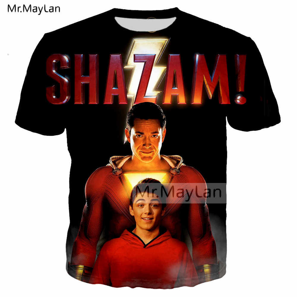 d60d91f4 2019 Newest DC Movie Shazam ! Print 3D Streetwear Tshirts Men/women Hip Hop  Punk