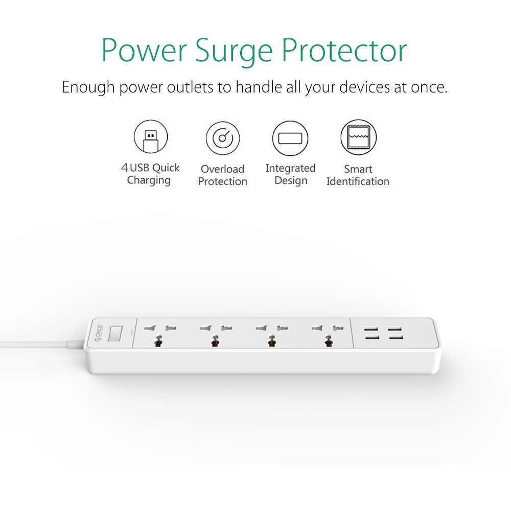 ORICO OSC-4A4U Home Office ue US Surge Protector z 4 ładowarką USB 4 uniwersalna wtyczka ac multi-outlet Travel Power Strips-White