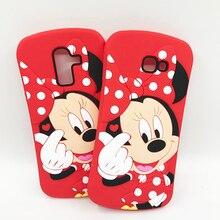 For Samsung J4 J6 Plus J8 2018 Case Cover 3D Cute Minnie Silicone Soft Phone Cases Galaxy Coque
