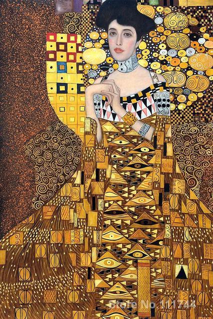 gold paintings of gustav klimt portrait of adele bloch bauer hand