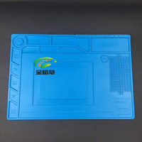 S 150 38 5x27cm Heat Insulation Silicone Pad Desk Mat Maintenance Platform For BGA Soldering Repair