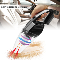Blue Black 120W Portable Car Vacuum Cleaner Wet And Dry Dual Use   Auto   Cigarette Lighter Hepa Filter 12V