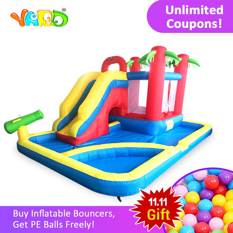 YARD 3 In 1 Inflatable Bouncer Castle Slides Pool 4.7*3.1*2.3M Large Inflatable Bouncer Blower Christmas Gift Ship Express Door china guangzhou manufacturers selling inflatable slides inflatable castles inflatable bouncer chb 29