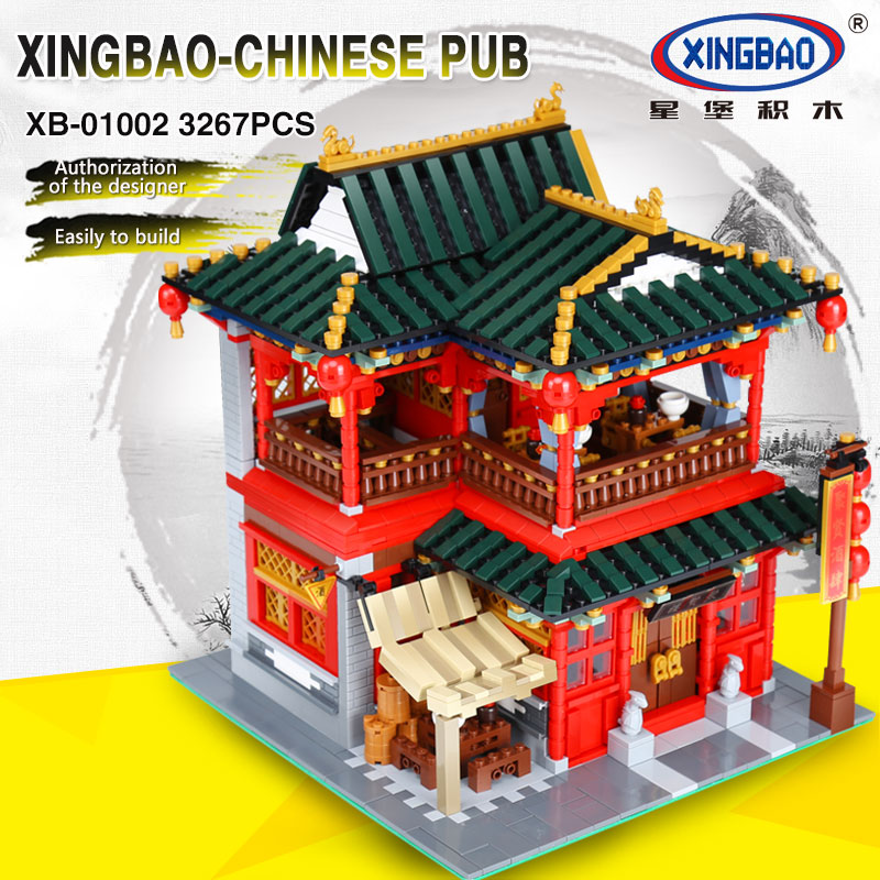 Xingbao 01002 3267Pcs MOC Creative Series The Beautiful Tavern Set Children Educational Building Blocks Bricks Toys Model Gifts z cube bundle black knight 2x2 3x3 4x4 5x5 speed cube set cube pack puzzle carbon fiber cube magic fidget toy gift box