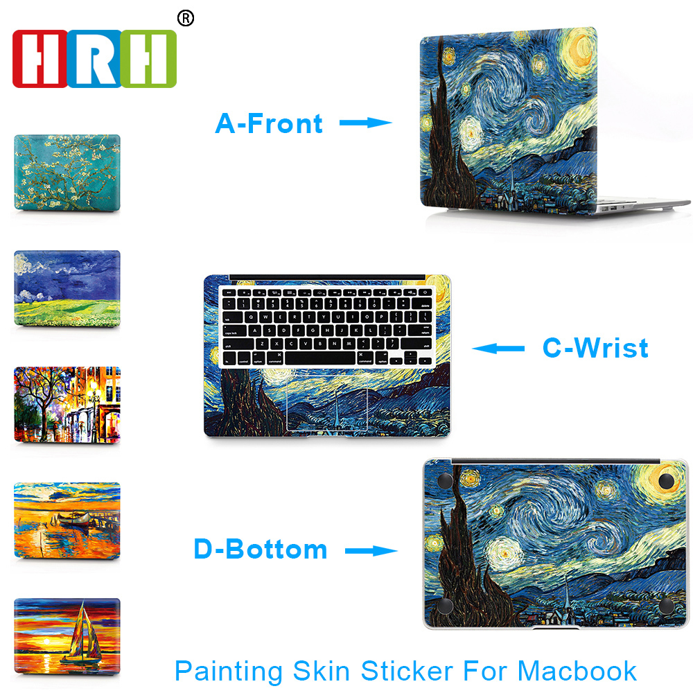 HRH 3 in 1 Paiting For Sticker Macbook Air 11 12 13 Pro 13 15 Retina Decal Laptop Wall Car Vinyl Logo Skin Matte Boay Palm Guard цена