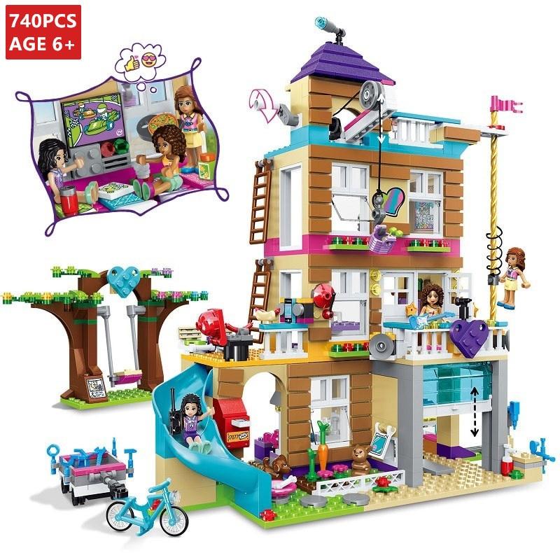730Pcs Friends Girls Series Friendship House 10859 City Building Blocks Sets LegoINGLs Bricks Toys for Children Christmas Gifts