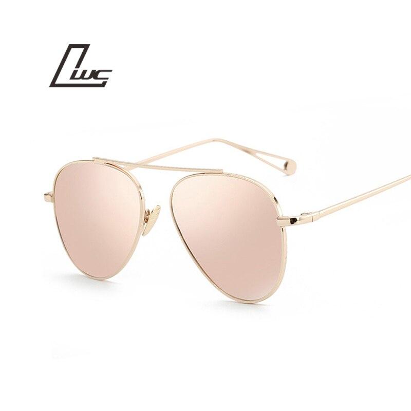Aviation Sunglasses Oculos Vintage Retro Mirror Design Women Luxury Brand For Female