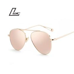 Marque de luxe Design Aviation lunettes de soleil femmes Designer miroir Vintage rétro lunettes de soleil pour femmes femme dame lunettes de soleil Oculos