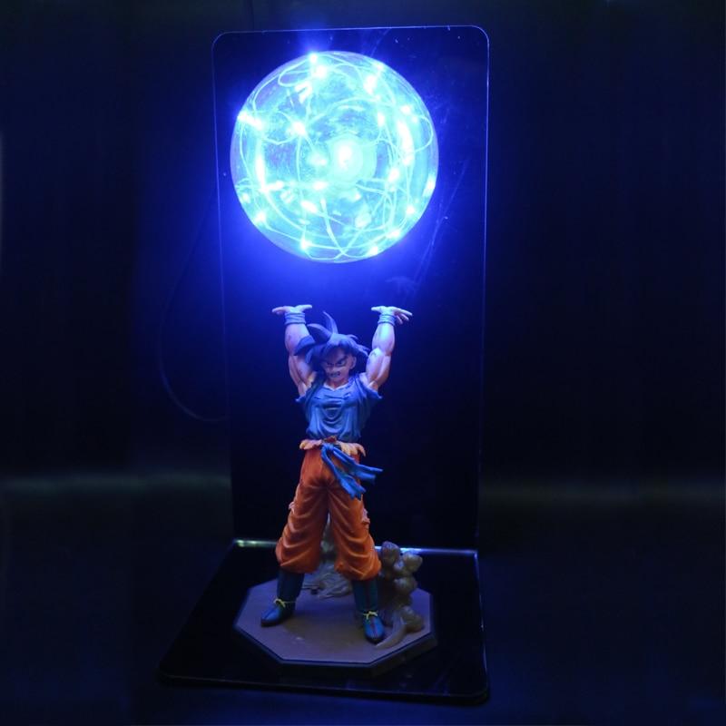 Dragon Ball Z Action Figures Goku Son Figurine Collectible DIY Anime Model Baby Dolls LED Lamp for Children Kids Christmas Toys(China)