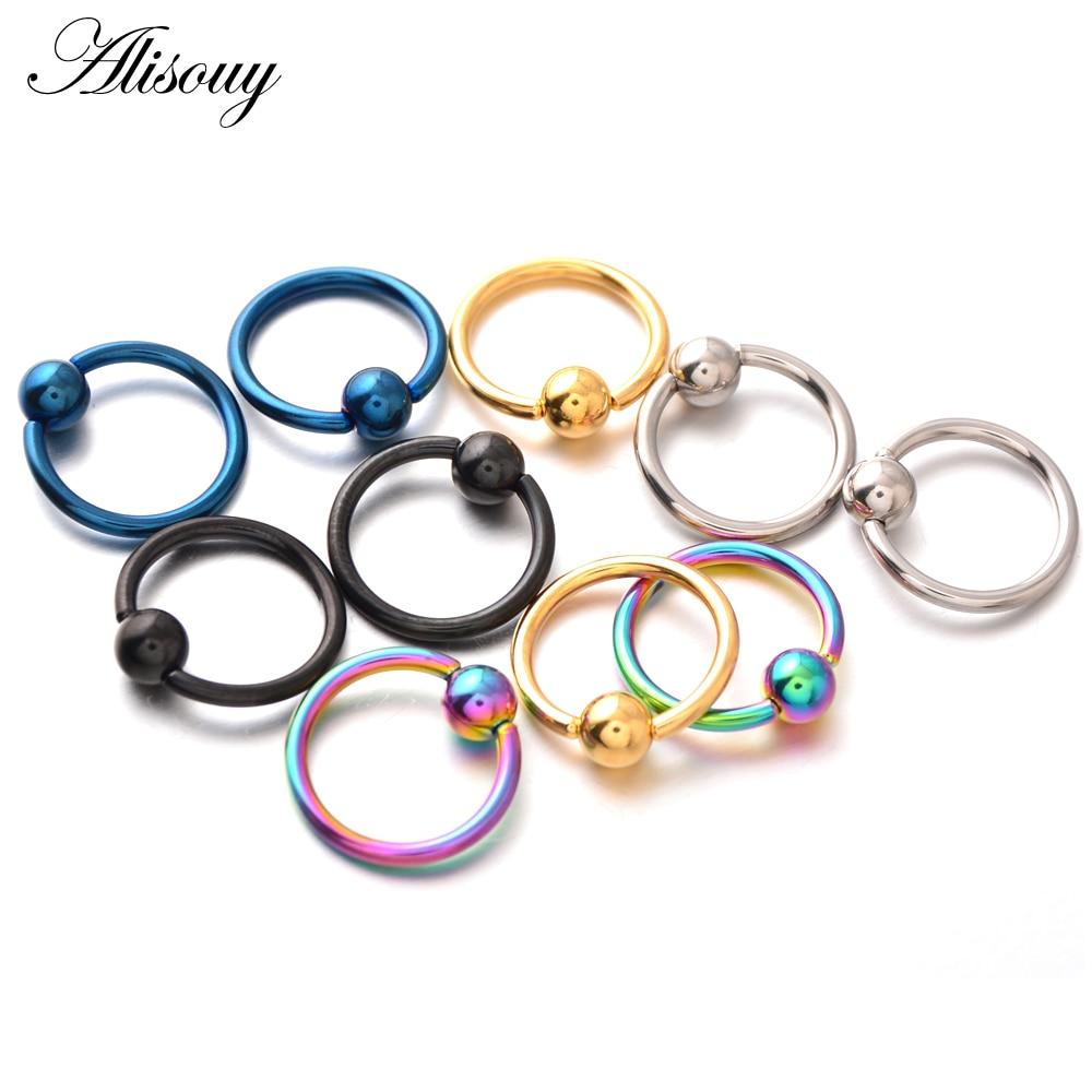 Stahl Segment Ring Ohr Nase Ringe Ohr Creole Piercing Clips Tragus Clip Haken