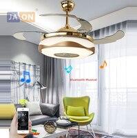 LED Modern Alloy Acryl ABS Bluetooth Musical Ceiling Fan.LED Lamp.LED Light.Ceiling Lights.LED Ceiling Light.For Foyer Bedroom