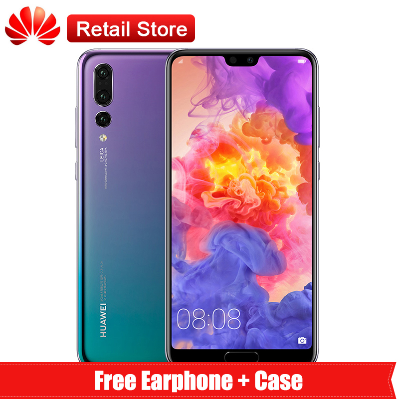 "Huawei P20 Pro 6 ГБ 256 6,1 ""kirin 970 Octa Core Android 8,1 2240*1080 40.0MP 3 сзади AI камеры SuperCharge ОТА NFC"