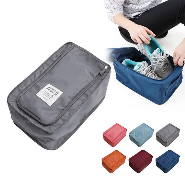 Waterproof Shoes Clothing Bag Pouch Travel Storage Bag Nylon Portable Shoes Organizer Zip Sorting Pouch Home Storage Bag