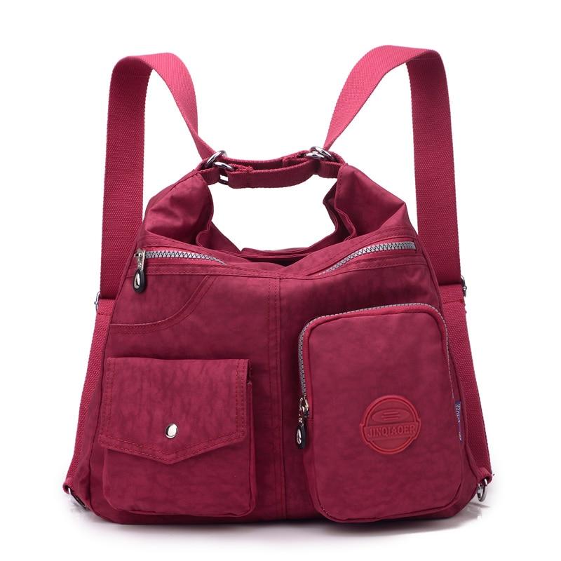 ファッション女性のクロスボディバッグ高品質ナイロンショルダーメッセンジャーバッグハンドバッグ女性のバッグパック防水通学バッグ