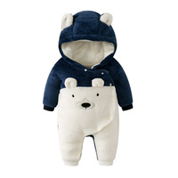 New Born Baby Outerwear Animal Costumes Girl Clothes Plush Jumpsuit Pajamas Velvet Romper Boy Clothing Winter