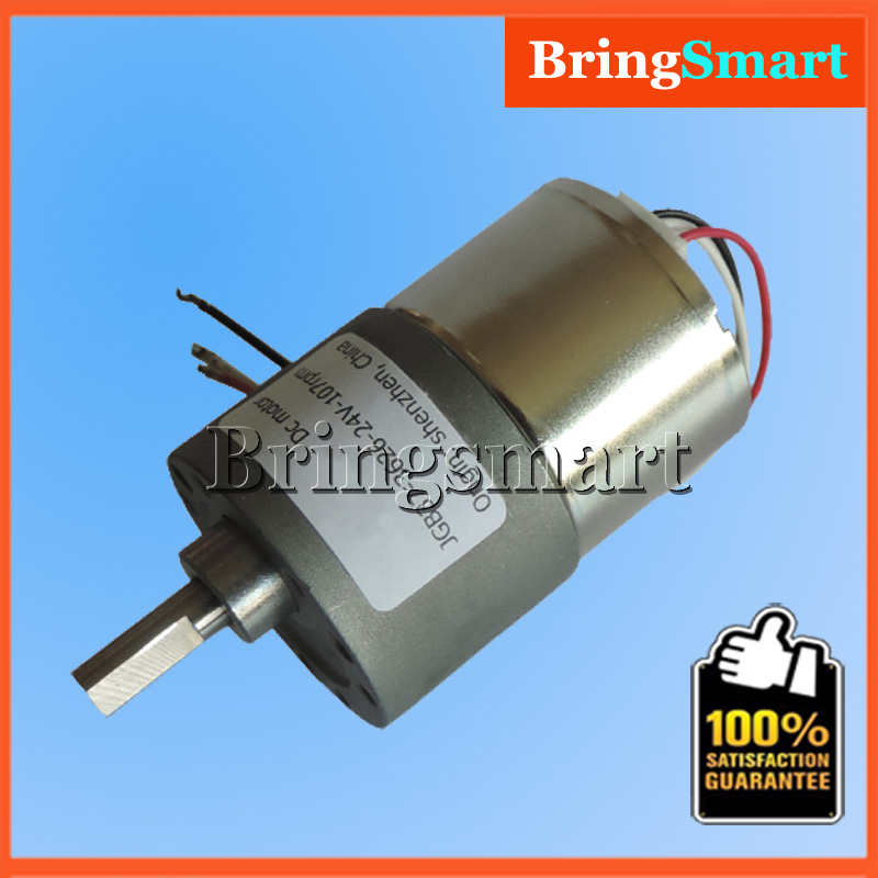 Jgb37 3626 24v dc brushless gear motor motor high torque for Geared brushless dc motor