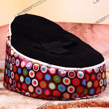 FRETE GRÁTIS feijão bebê tampa saco com 2 pcs capa preta cadeira do saco de feijão do saco de feijão do bebê do miúdo saco do bebê