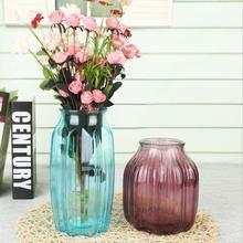 Cute Pumpkin Model Glass Vase Decor Crafts Transparent Octagon Flower Terrarium Hydroponic Container Wedding