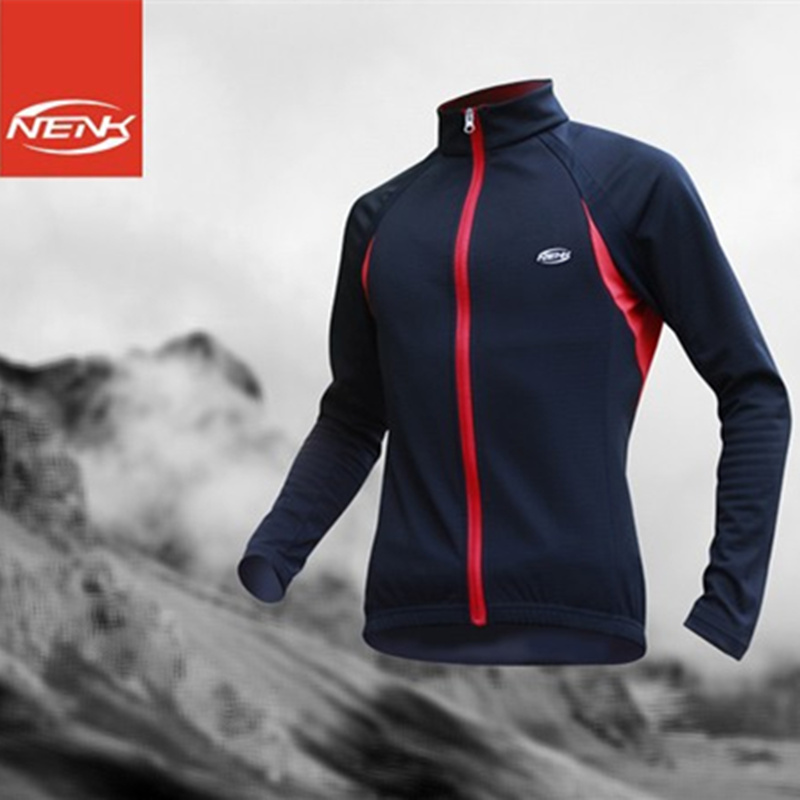 NENK Autumn Running Cycling Long Sleeves Jersey Wind Coat Windproof Jacket Anti-Pilling Jerseys Bicycle Bike Hiking Outwears