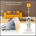 High quality AC85-265V E27 8W RGBWW+ Color Temperature Milight dimmable  2.4G Wireless led bulbs CE & RoHS mi.light