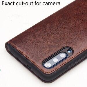 Image 5 - Qialino couro genuíno slot para cartão da aleta caso para xiao mi 9 moda vintage proteção completa capa de telefone para xiao mi 9 6.39 polegada