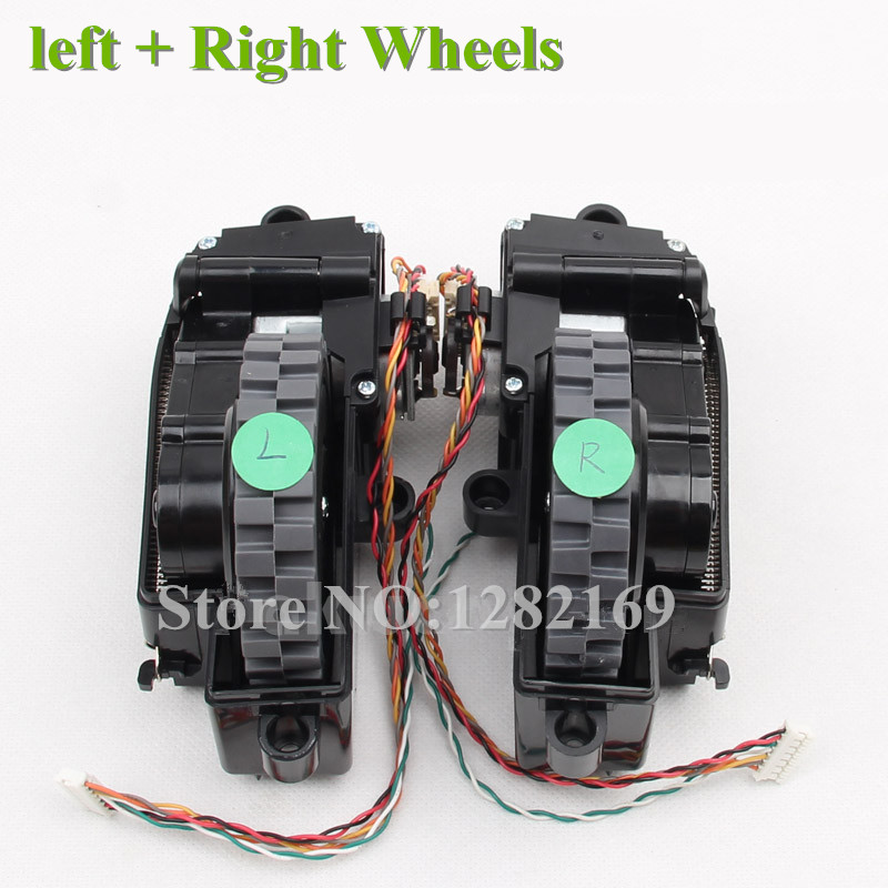 Original ( Left + Right ) Wheel for ilife v7  v7s v7s pro Robot Vacuum Cleaner Parts (Including wheel motors) 1 piece robot vacuum cleaner wheels including right wheel assembly replacement for a320 a325