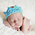 Creative newborn photography props hat crown knitting wool quick-drying tiaras infantil kawaii crochet outfits headband