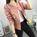 2015 nova queda selvagem único breasted longo-sleeved mulheres jaqueta curta parágrafo Magro Desconto promoção Sexy moda jaqueta