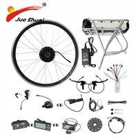 Сзади стойки samsung 36 В 48 В литиевых Батарея 250 Вт 350 Вт 500 Вт Мотор колеса E велосипед Conversion Kit светодио дный ЖК дисплей Дисплей Электрический вел