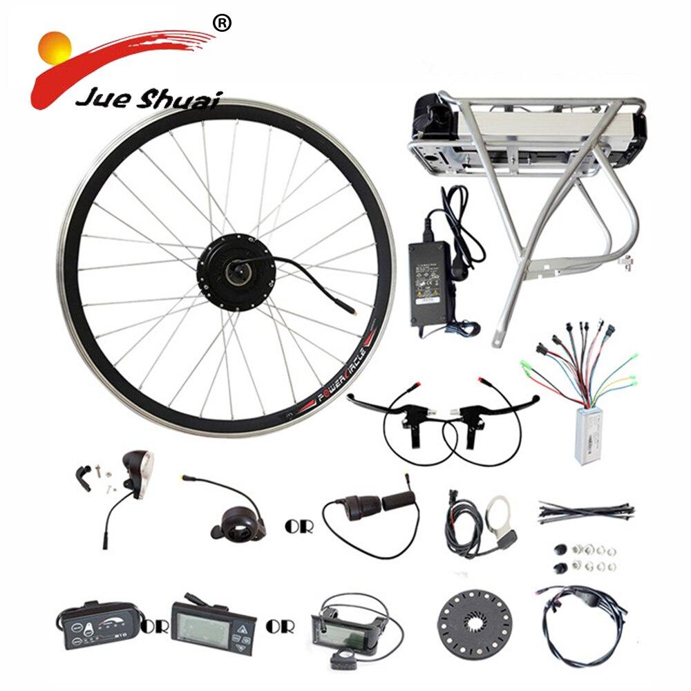 Porte-Bagages arrière Samsung 36 v 48 v Batterie Au Lithium 250 w 350 w 500 w Moteur Roue E vélo Conversion kit LED LCD Affichage Vélo Électrique Kits
