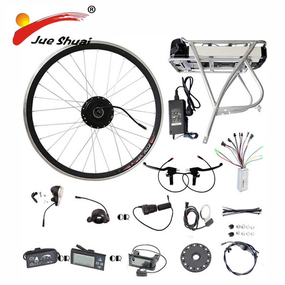 Support arrière Samsung 36 V 48 V batterie au Lithium 250 W 350 W 500 W moteur roue E Kit de Conversion de vélo écran LED lcd Kits de vélo électrique