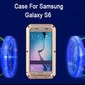 Elegante Completa Proteção S6 tempo/sujeira/à prova de caso com Gorilla de Vidro Temperado Para Samsung Galaxy S6 Telemóvel sacos & Casos