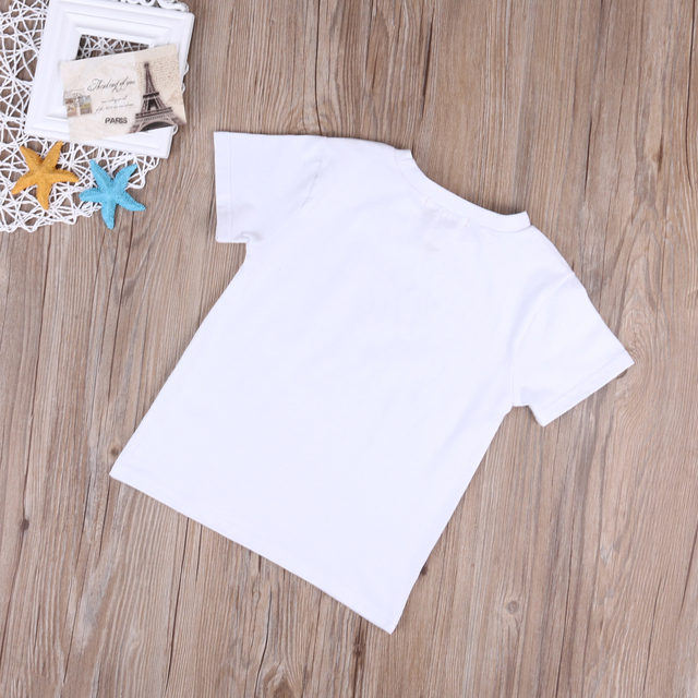 Cute Family Set NEW 2017 Newborn Baby Boys Short Sleeve Romper Girls Short Sleeve T-shirt Tops Outfits 5