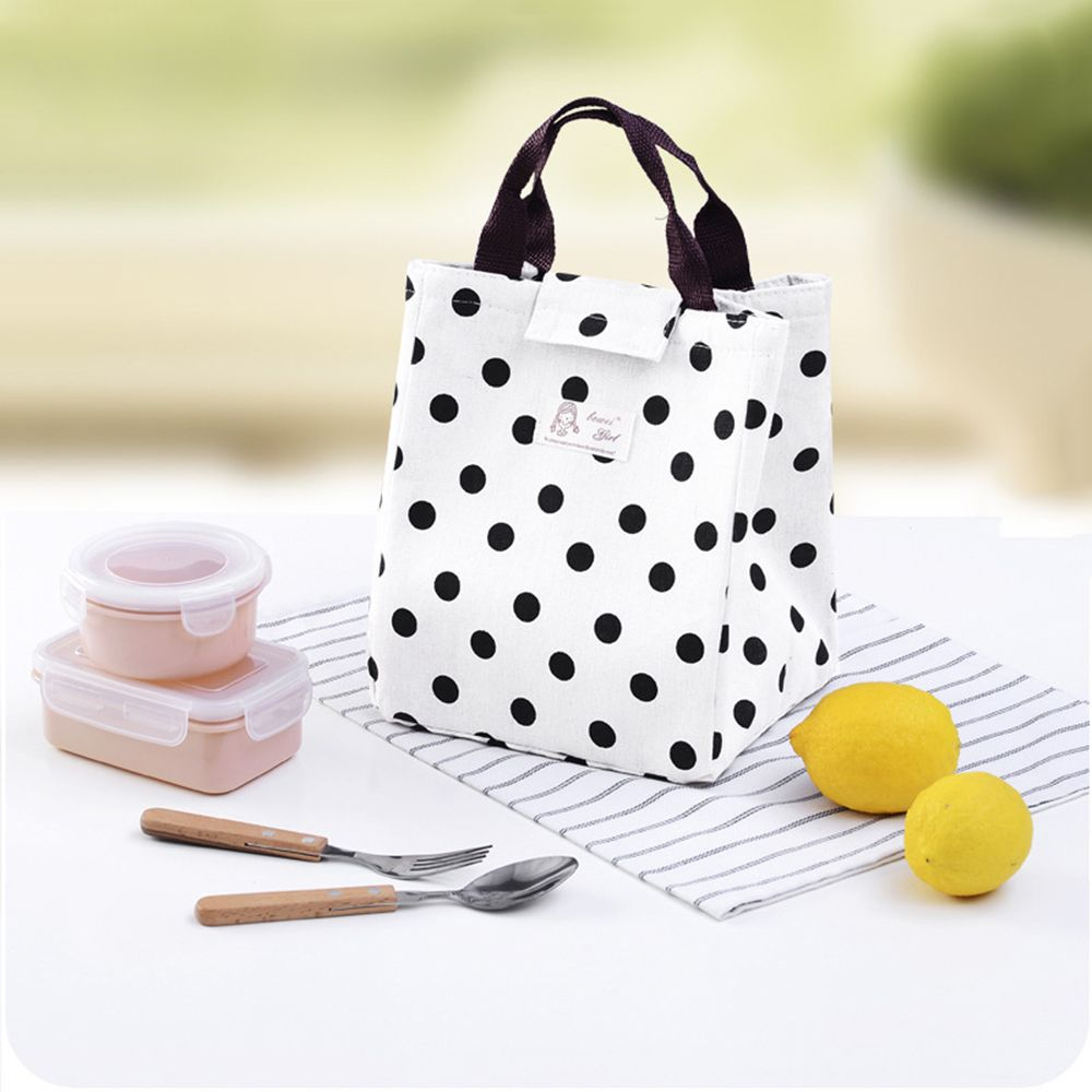 1PC Portable Insulated Canvas Lunch Bag Thermal Food Travel Picnic Lunch Bags Cooler Lunch Box Tote High Quality