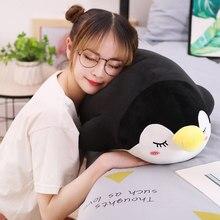 Nouveaux jouets en peluche pingouin doux de 30/70cm, poupée d'animal de dessin animé à la mode pour enfants bébé, joli cadeau d'anniversaire de noël pour filles