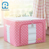 FURGERIN Clothes Storage Box Organizer makeup organizer box Home Organization and Storage Box for Toys Container 24L/44L Oxford