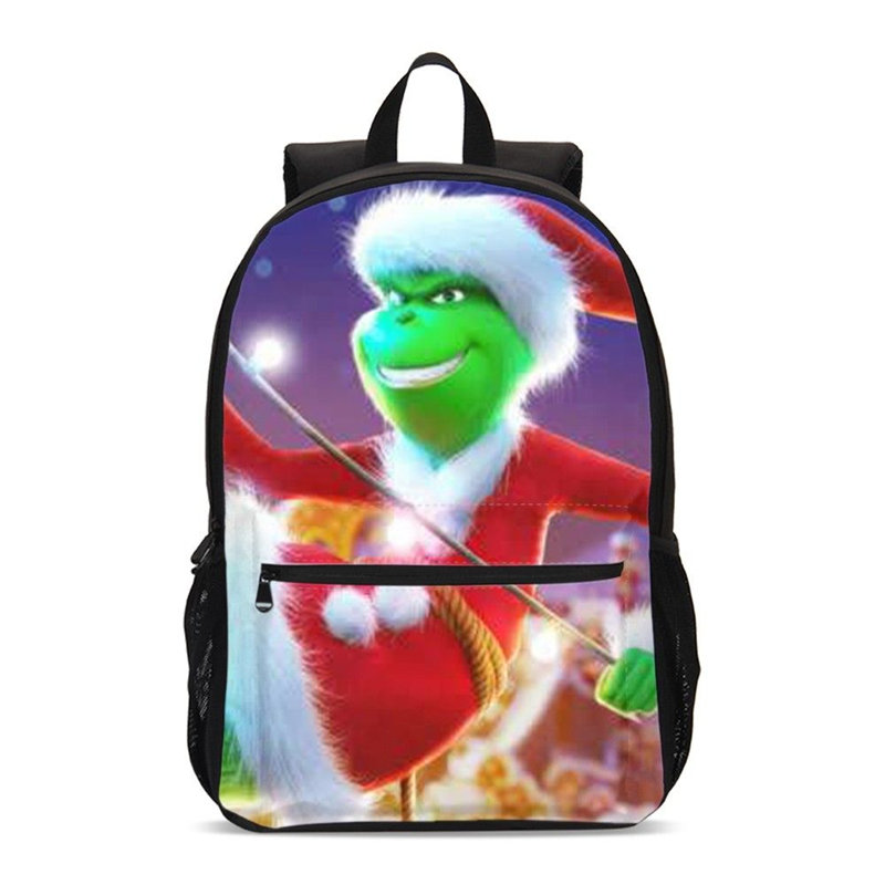Backpack For Boys Girls Fashion The Grinch 3D Printing School Bags Teenage Children Kids Bookbag Laptop
