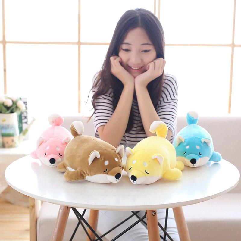 28cm Cartoon Zodiac Dog Plush Toy Shiba Inu Toy Stuffed Plush Pillow Toy Puppy Doll birthday gift creative akita dog shiba inu plush toys imitation dog doll cartoon birthday gift 40 60cm