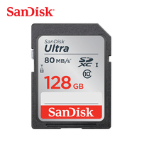 SanDisk Memory Card Ultra SDXC SD Card Class10 128GB C10 UHS I 80MB/s Read Speed for Camera Camcorder (SDSDUNC 128G ZN6IN)