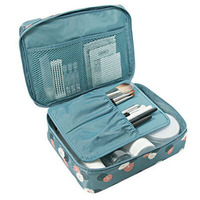Neceser Zipper   Makeup   bag Neceseries Cosmetic bag dot beauty Case Make Up Tas   Makeup     Sets   Organizer Storage Travel Wash cosmetic