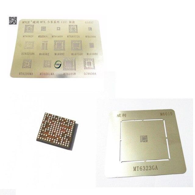 US $1 48 |1pack BGA reballing reball stencil for MTK xiaomi series MTK6369  MT6582 MT6572A MT6592V MT6323GA MT6169V MT6735V MT6339A A&D A&D-in