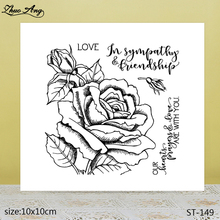 ZhuoAng  Love Flowers Transparent Silicone Stamps / DIY Scrapbook Album Decoration Seal
