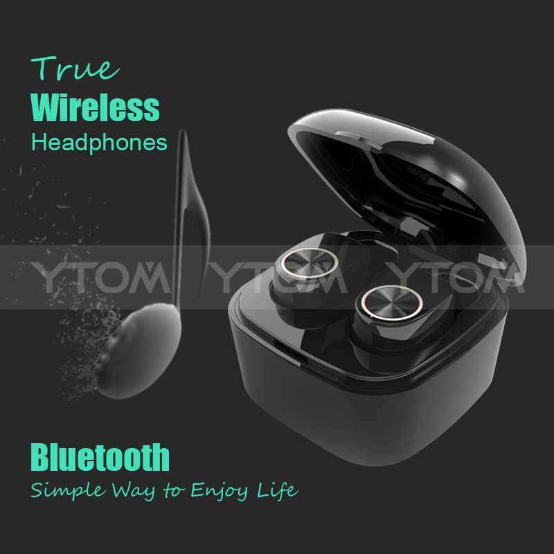 Écouteurs YTOM Mini True TWS sans fil Bluetooth EDR pour smartphone écouteurs sport pour iphone XS X xiaomi
