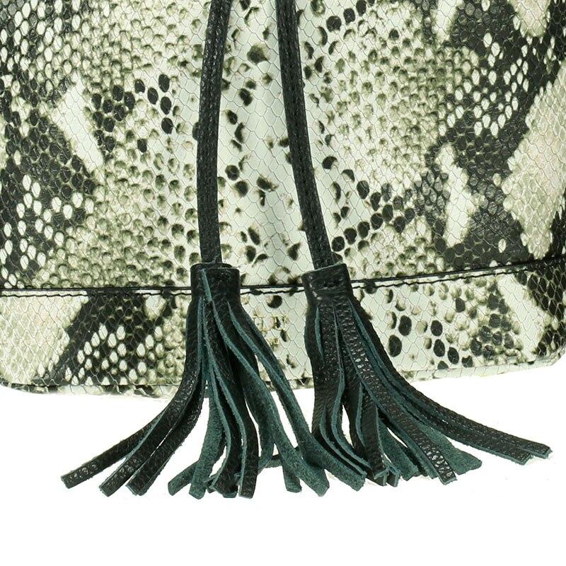 lulu milano Genuine leather leather printed snakeskin handbag made in Italy   P105-s 3