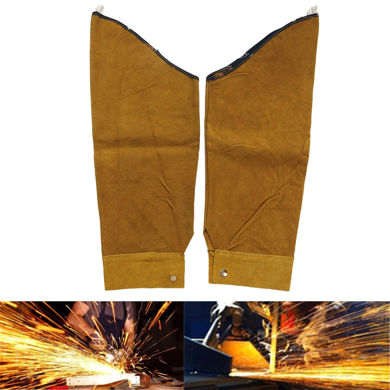 Image 5 - Free Shipping Split Leather Heat Resistant Welding Sleeves Protective Armband for Welding Tool-in Safety Clothing from Security & Protection